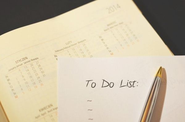 to do list with pen and planner