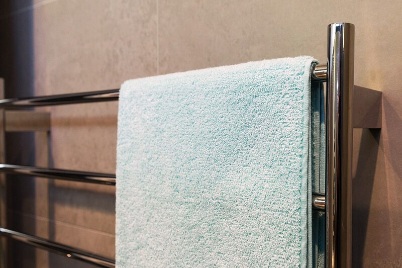 chrome heated towel rail
