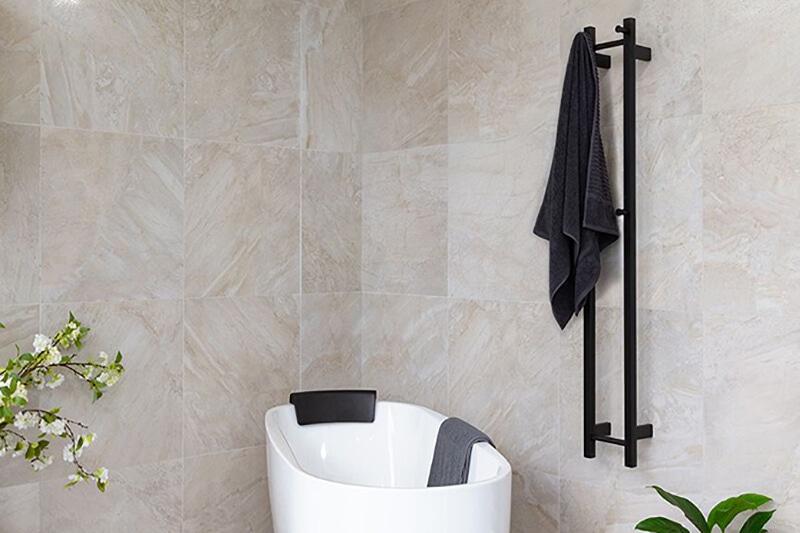 double vertical heated towel rail