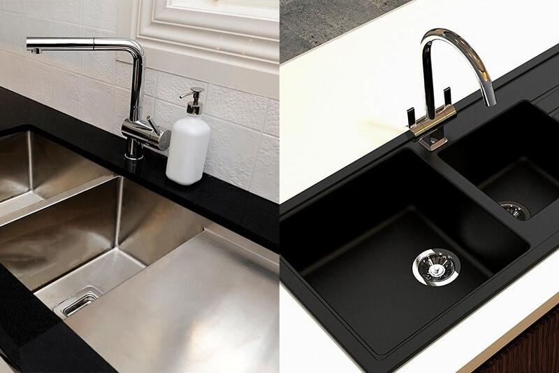 granite kitchen sink or stainless steel sink