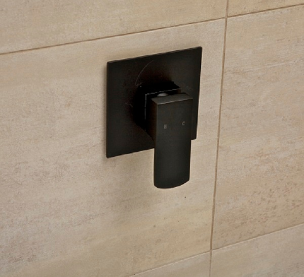 terrus matte black wall mixer