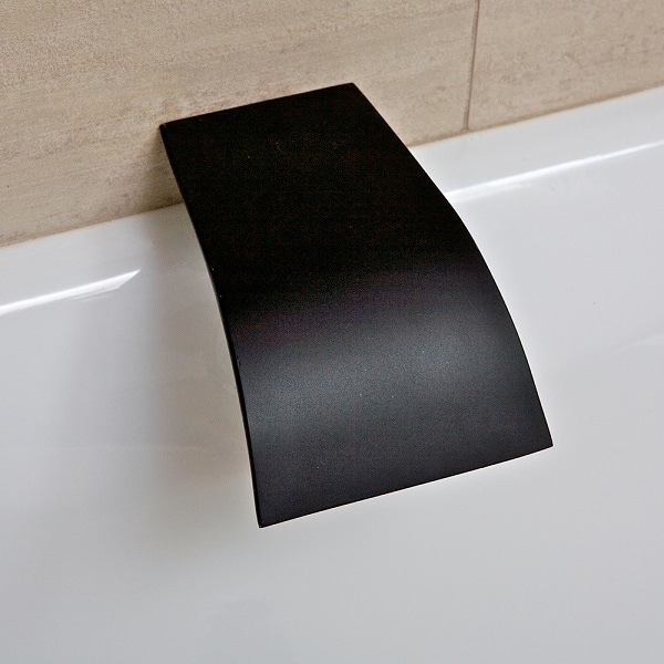 terrus waterfall spout wall mount matte black