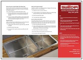 swedia sink easy care sheet