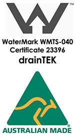 Draintek Shower Grate Watermark Licence
