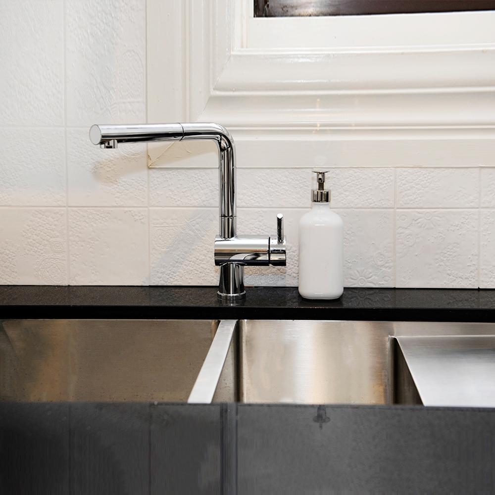 shaynna blaze uses professional stainless steel sink