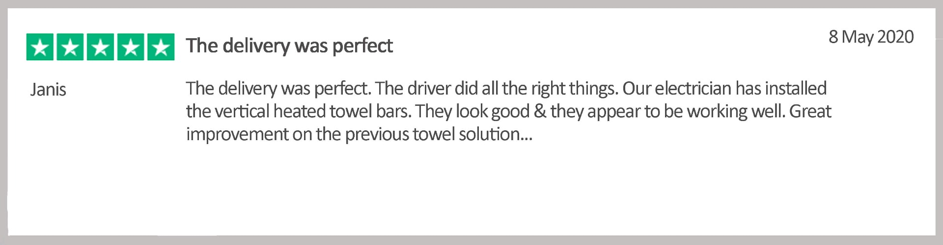 energy efficient heated towel holder vertical bars