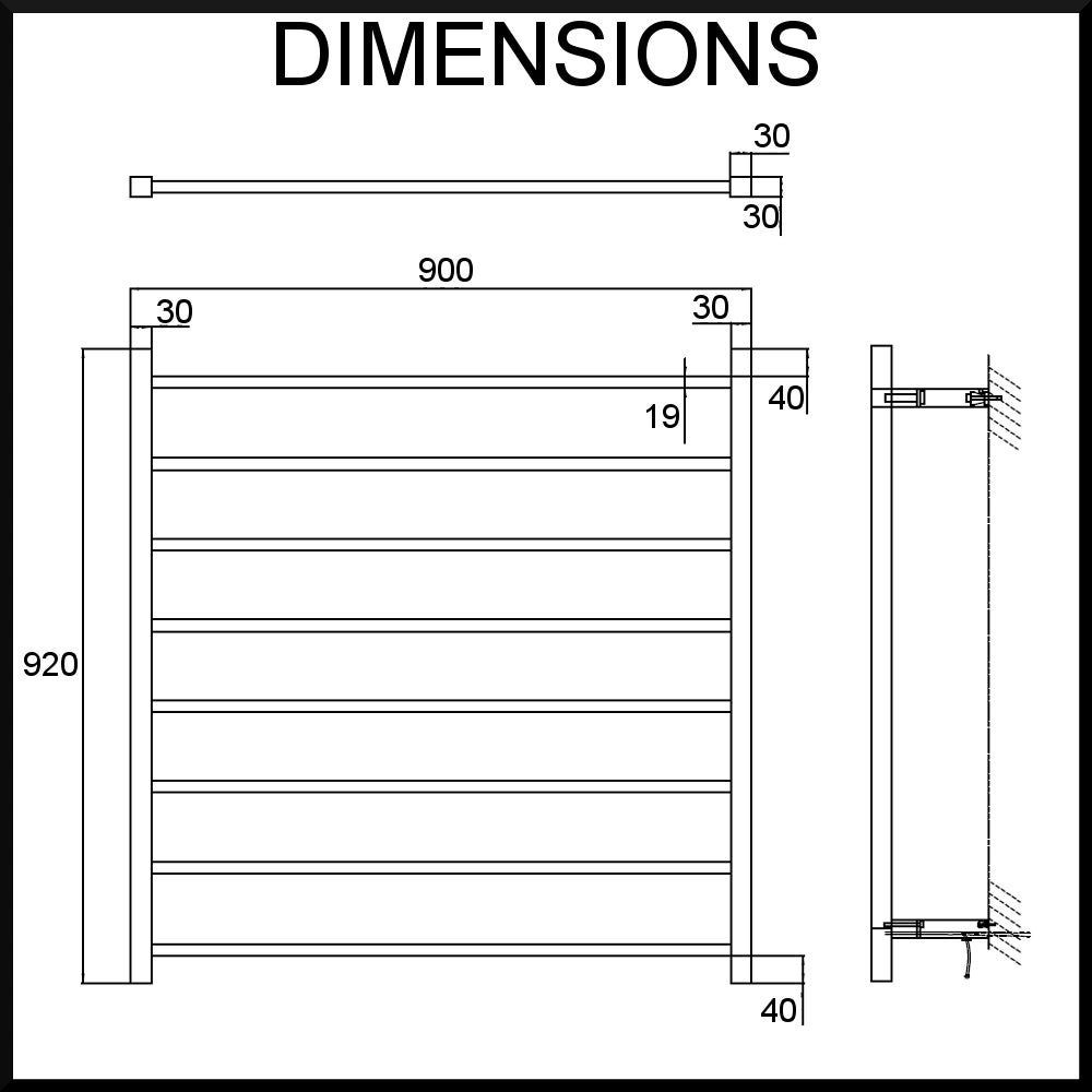 diagram heated towel rail square tube 900mm 920mm heated towel rail square tube (w900mmxh920mm) polished stainless steel heated towel rail timer wiring diagram at alyssarenee.co