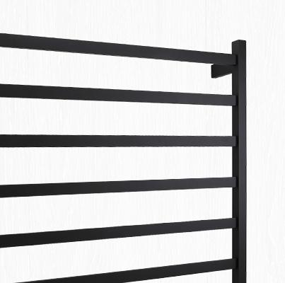 black towel rack and heated towel rail bathroom ideas