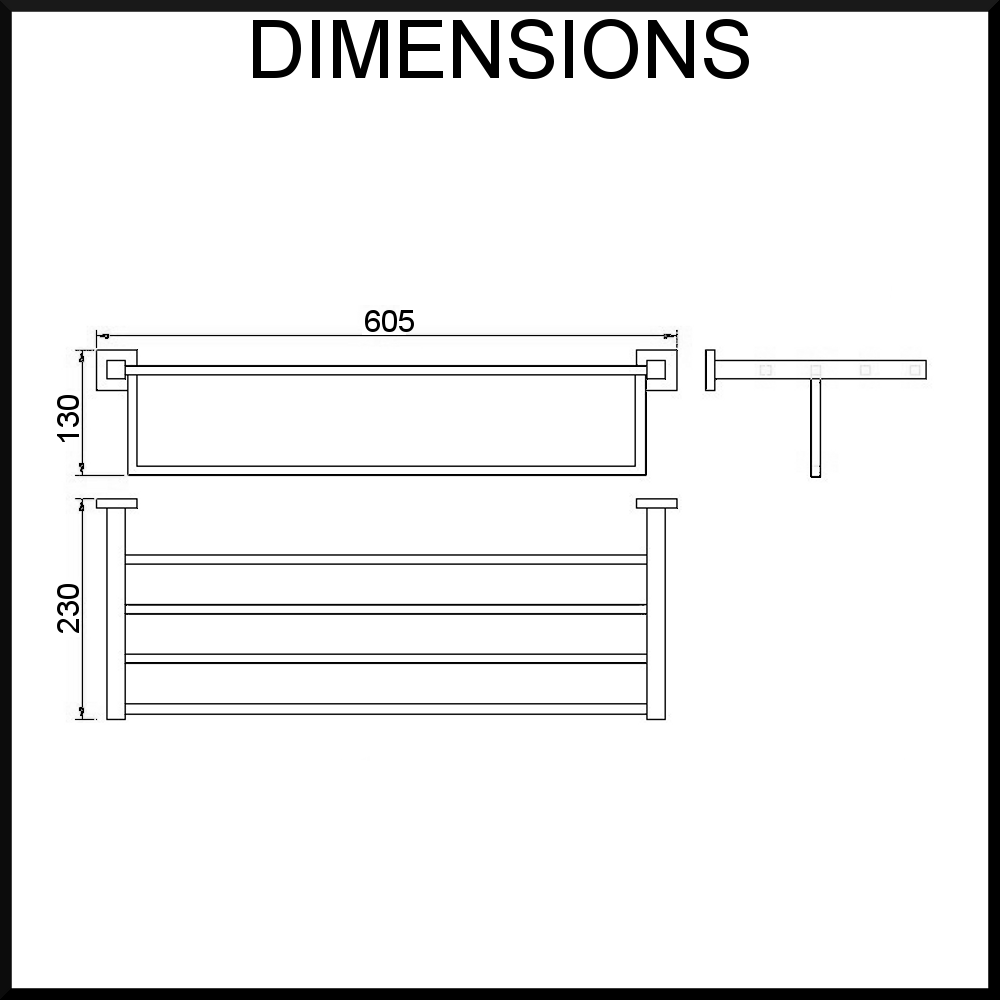 Towel Rack Dimensions Cosmecol