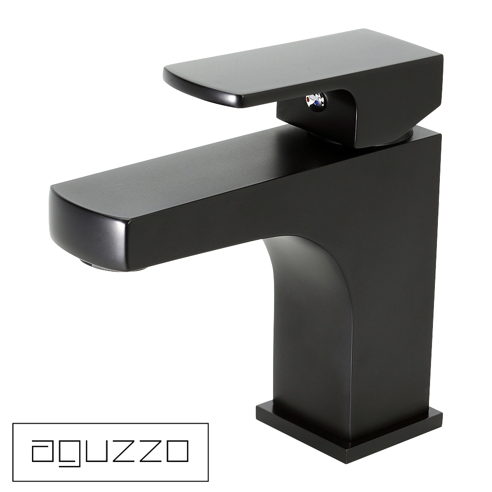 Single lever matte black kitchen mixer tap