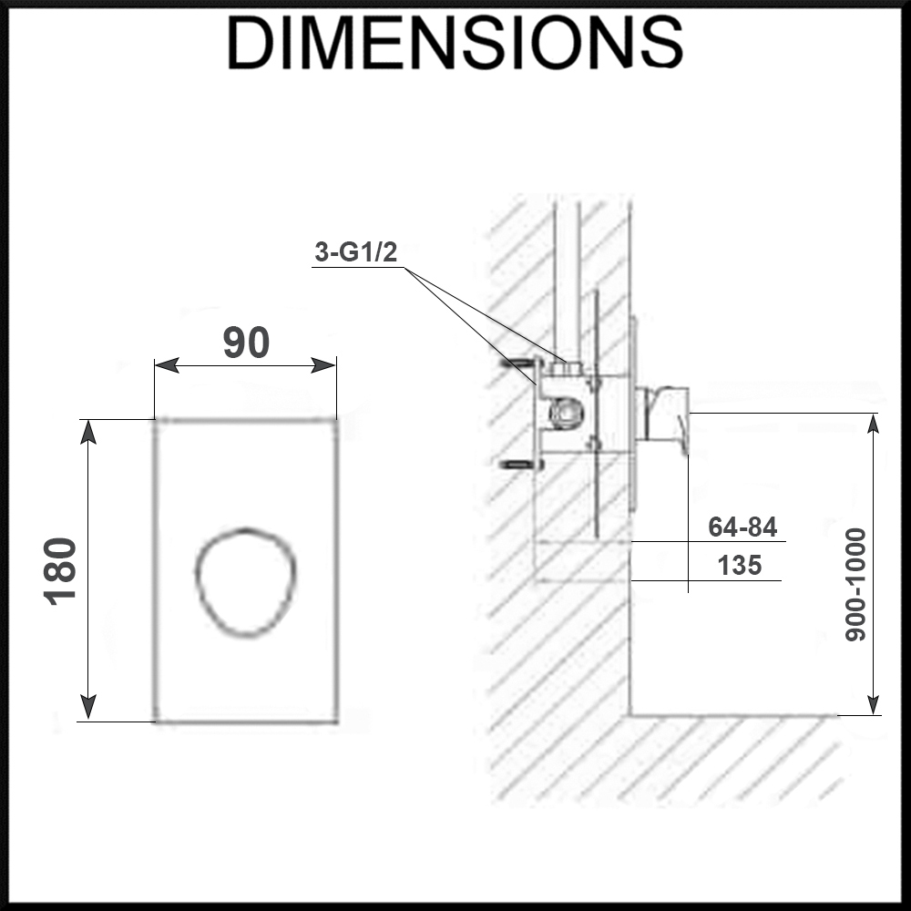 iseo-wall-mixer-dimensions