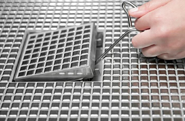 centre floor waste stainless steel