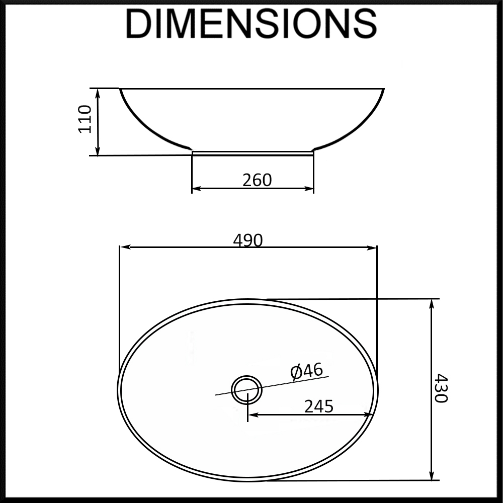 round-ceramic-basin-dimensions