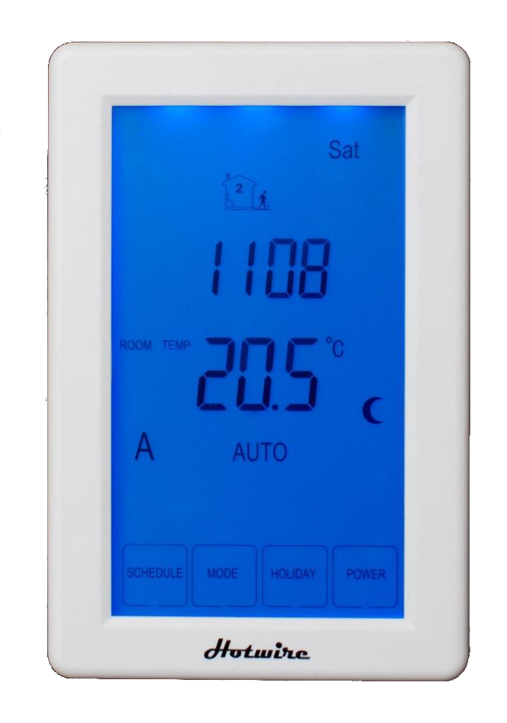 New under tile heating kit includes touchscreen thermostat timer for Heated bathroom floor thermostat