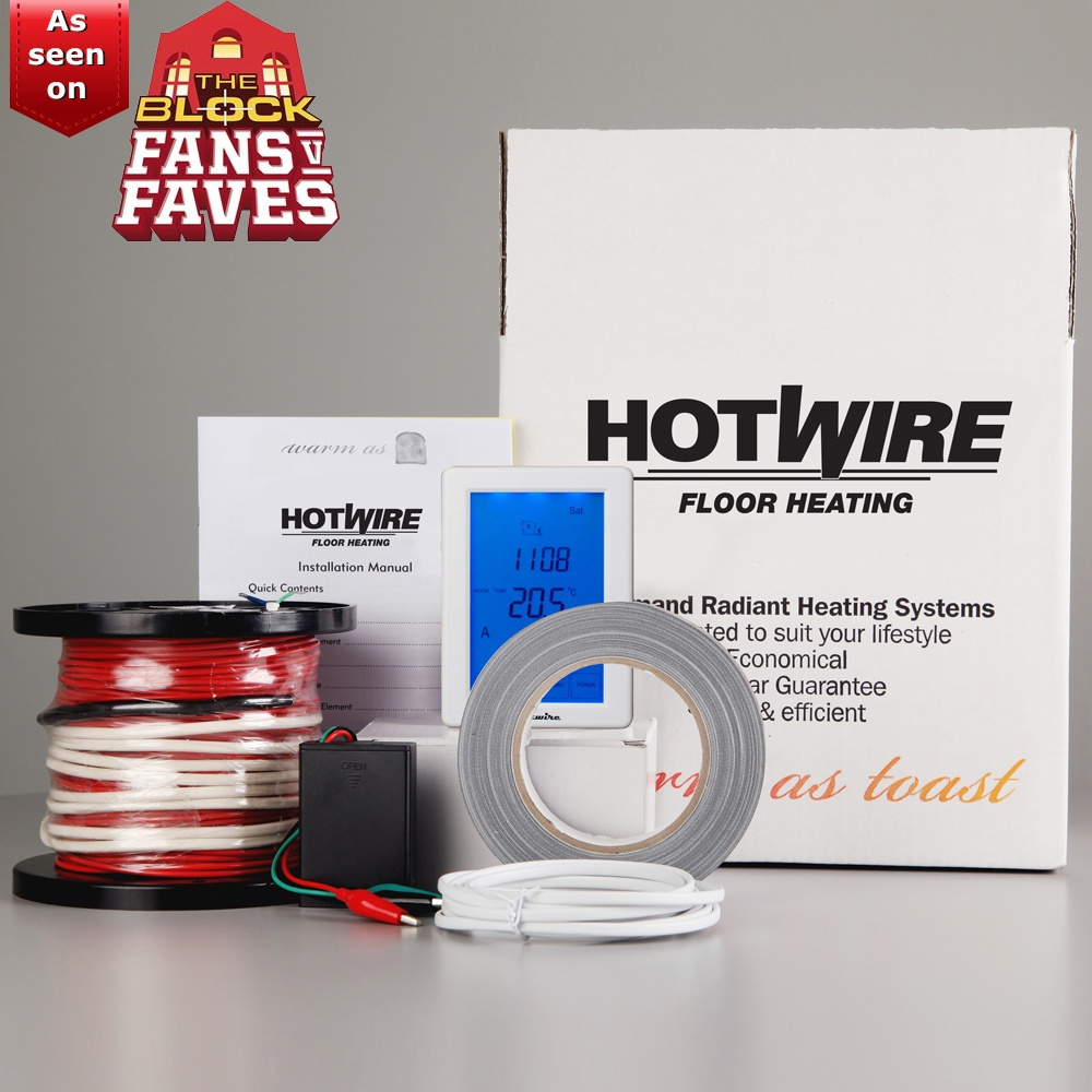 hotwire under tile heating diy kit from per sqm including