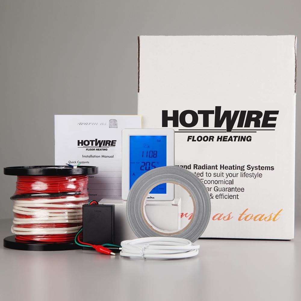 Heated Bathroom Tile: Hotwire Under Tile Heating