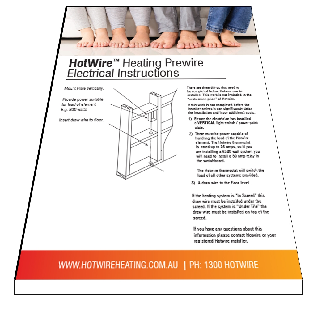 Hotwire Prewire Instructions 2017