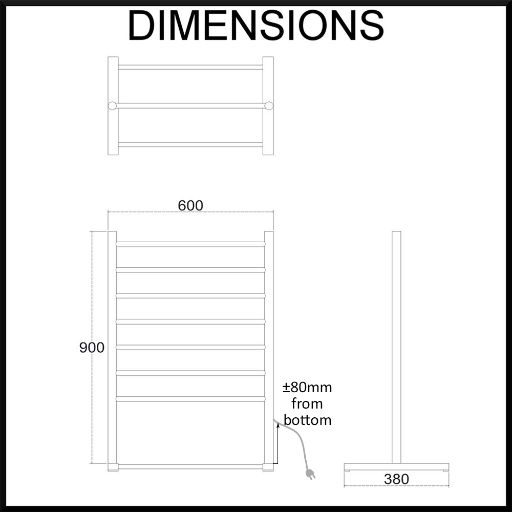 freestanding-heated-towel-rail-dimensions