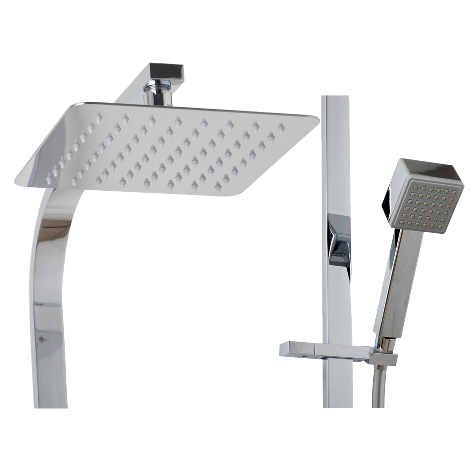Vale square rain shower and rail set