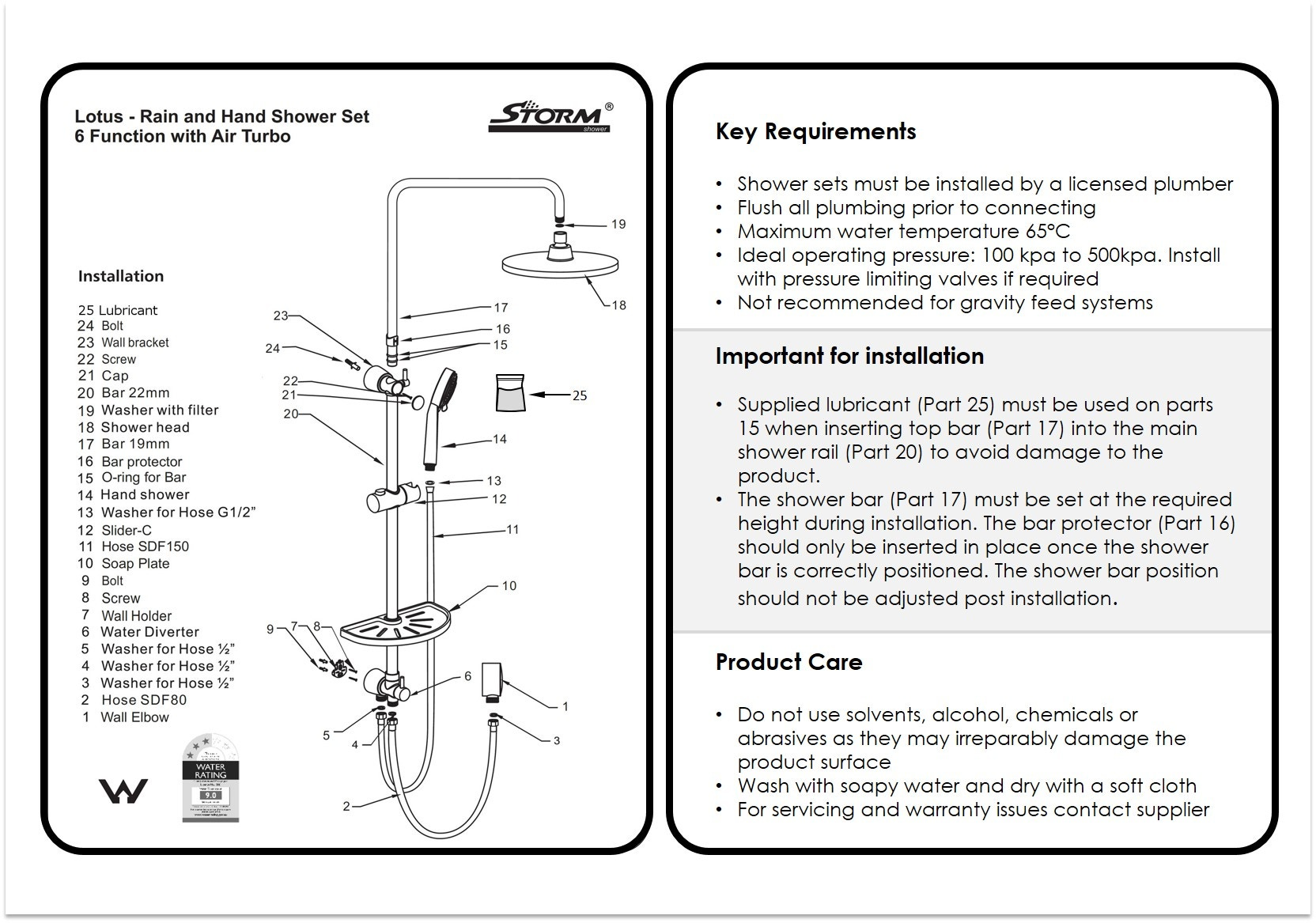 Moen Shower Replacement Parts Manual Guide