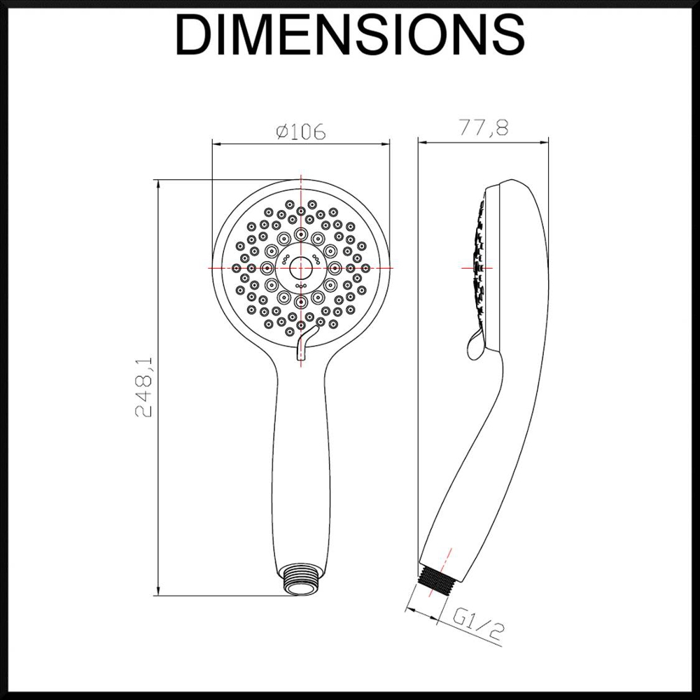 lotus-5-function-shower-head-face-dimensions