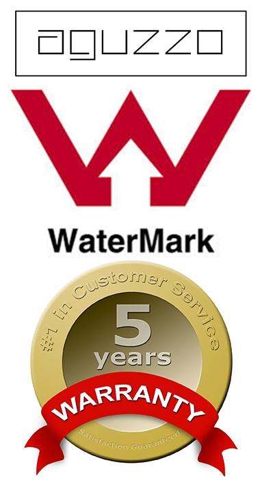 Aguzzo Bathware Range Watermark Certified