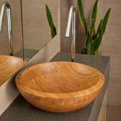 modern bathroom basin choices and bamboo wooden basin, round basin, square basin, rectangular basin options