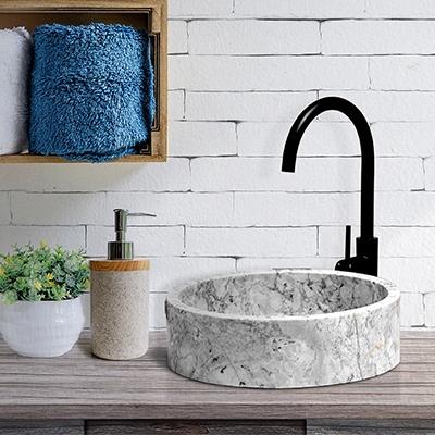 Bathroom ideas for marble bathroom sink and marble stone basin