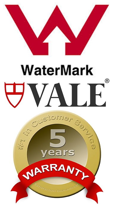 Vale Bathware Watermark Certified