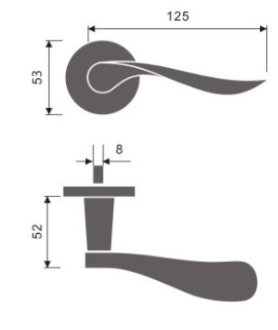 Royce Door Handle Dimensions