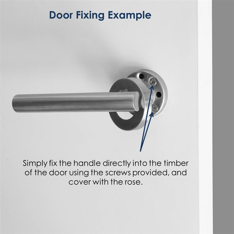 Stainless steel dummy door handle set