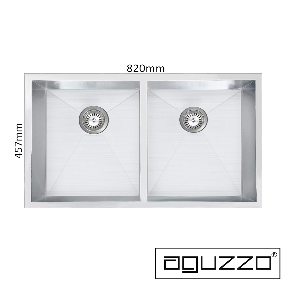 aguzzo stainless steel kitchen sinks