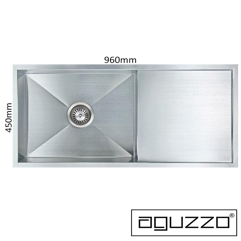 aguzzo stainless steel kitchen sinks