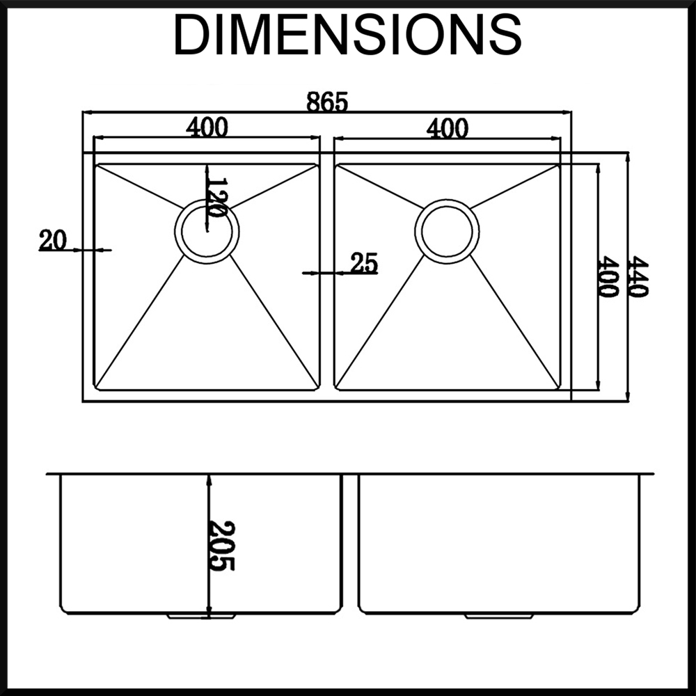 Stainless Steel Sink Dimensions : renovator store stainless steel kitchen sink dimensions