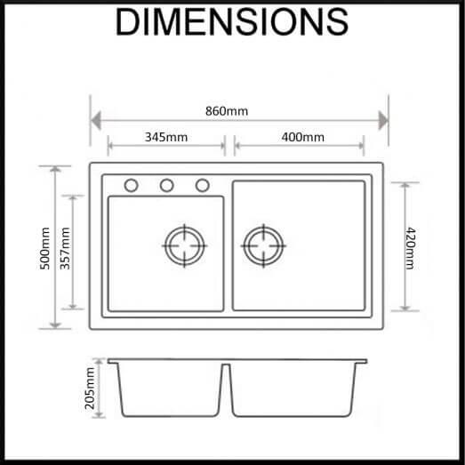 Carysil-N200-kitchen-sink-granite