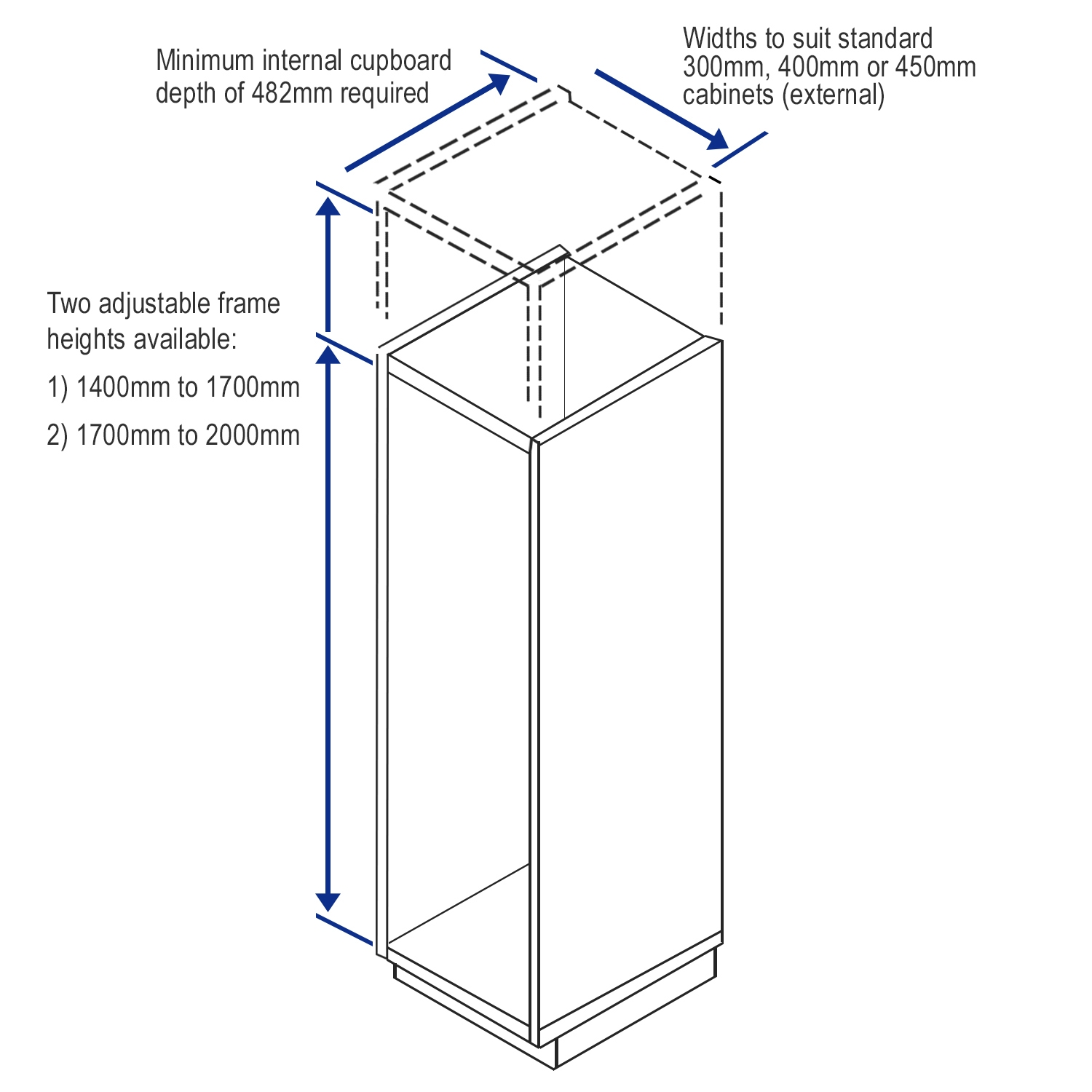 Pull Out Pantry Dimensions Drawing