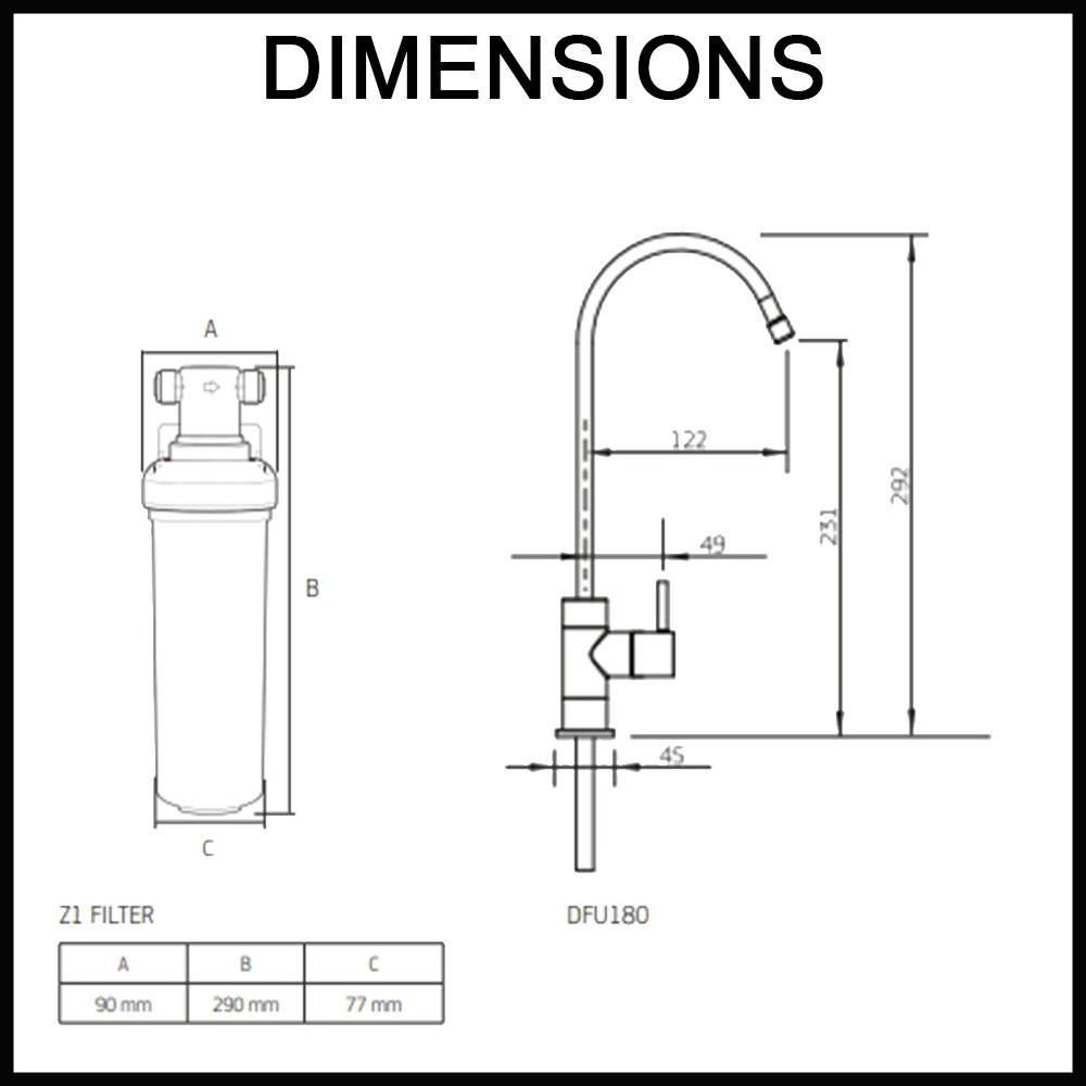 Z18 Water Filter Faucet High Loop Led Renovatorstore
