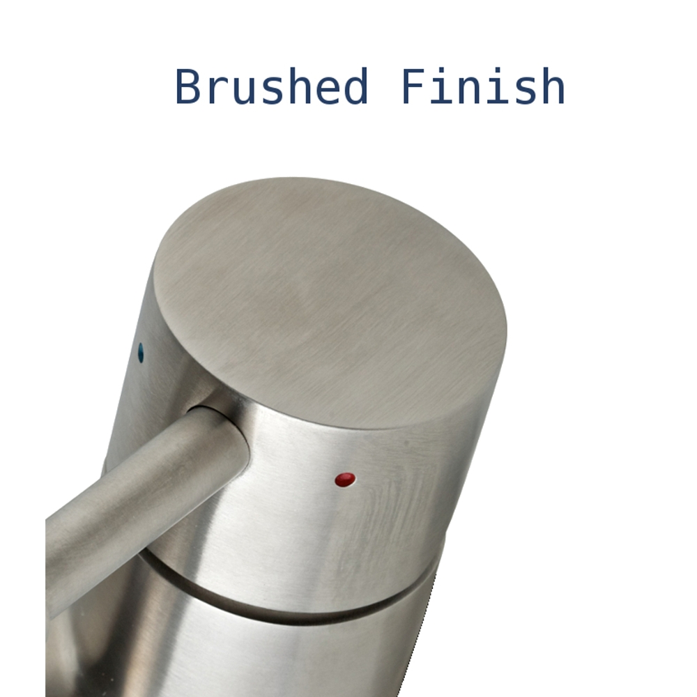 brushed finish round handle   oskar