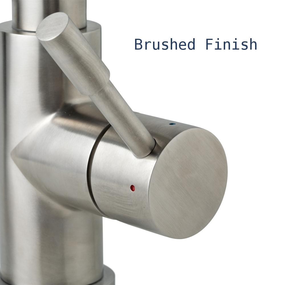 brushed finish round handle   otto