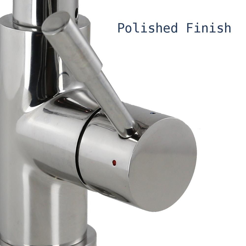 polished finish handle round otto