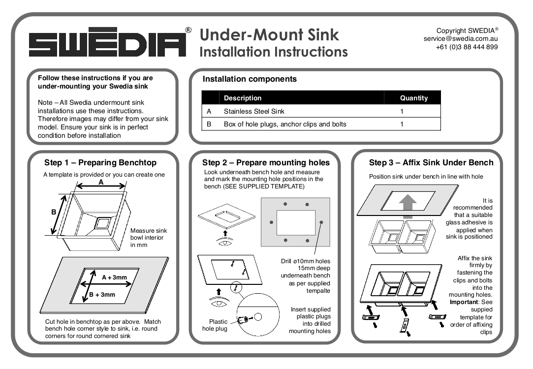 stainless steel sink undermount installation instructions