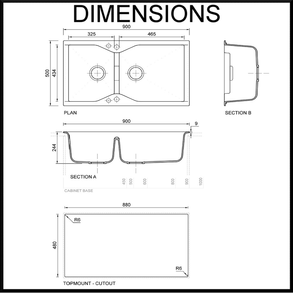 Zum-Villa-Granite-Sink-dimension-diagram