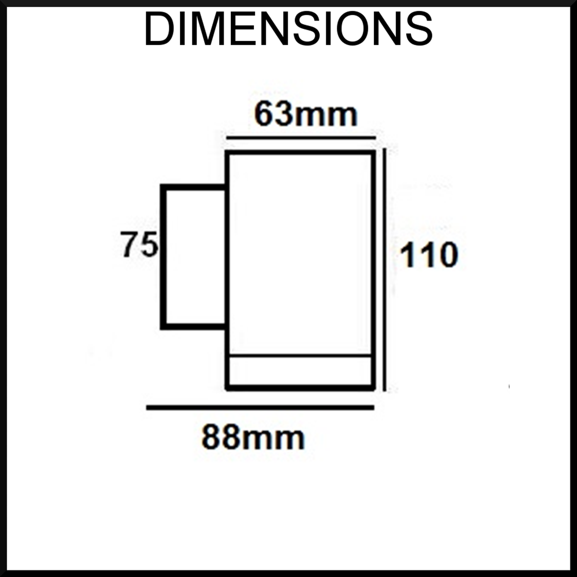 Aluminium outdoor square wall down light