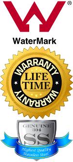 Australian Watermark Certified, Lifetime Warranty, Solid 304 Stainless Steel