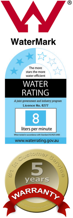 Australian Watermark Certified, 3-Star Water Rating