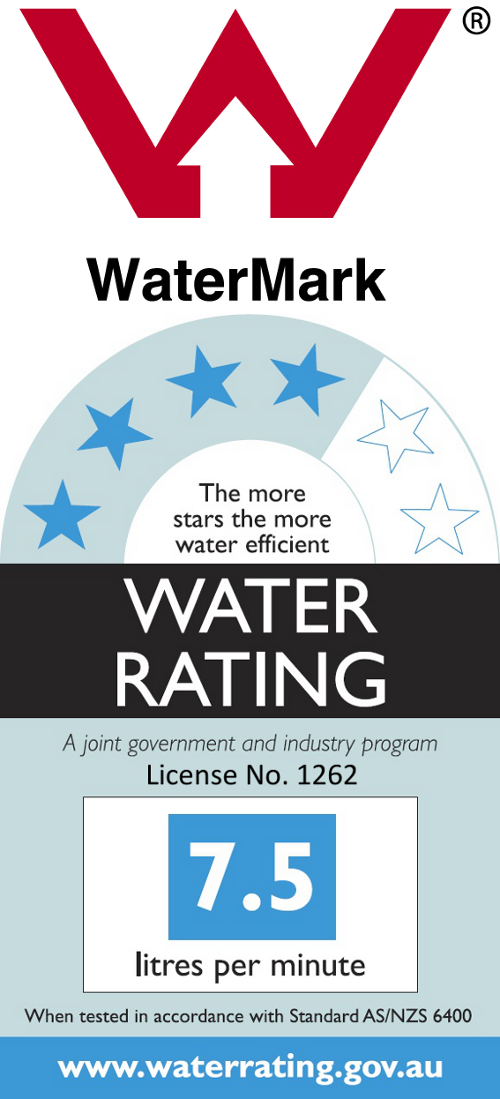 Australian Watermark Certified, 4-Star Wels Water Rating