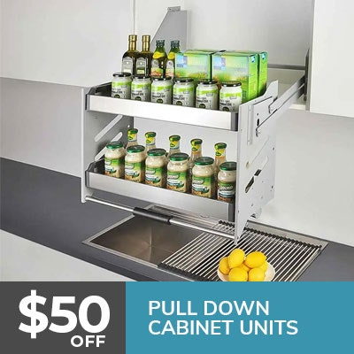 kitchen pull-down cabinet