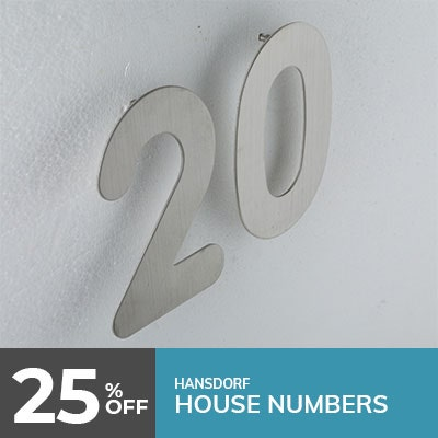 house numbers modern