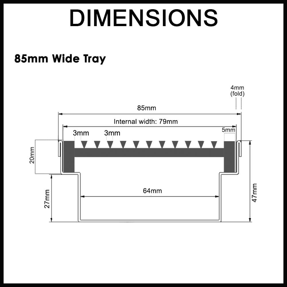Architectural linear strip drain dimensions