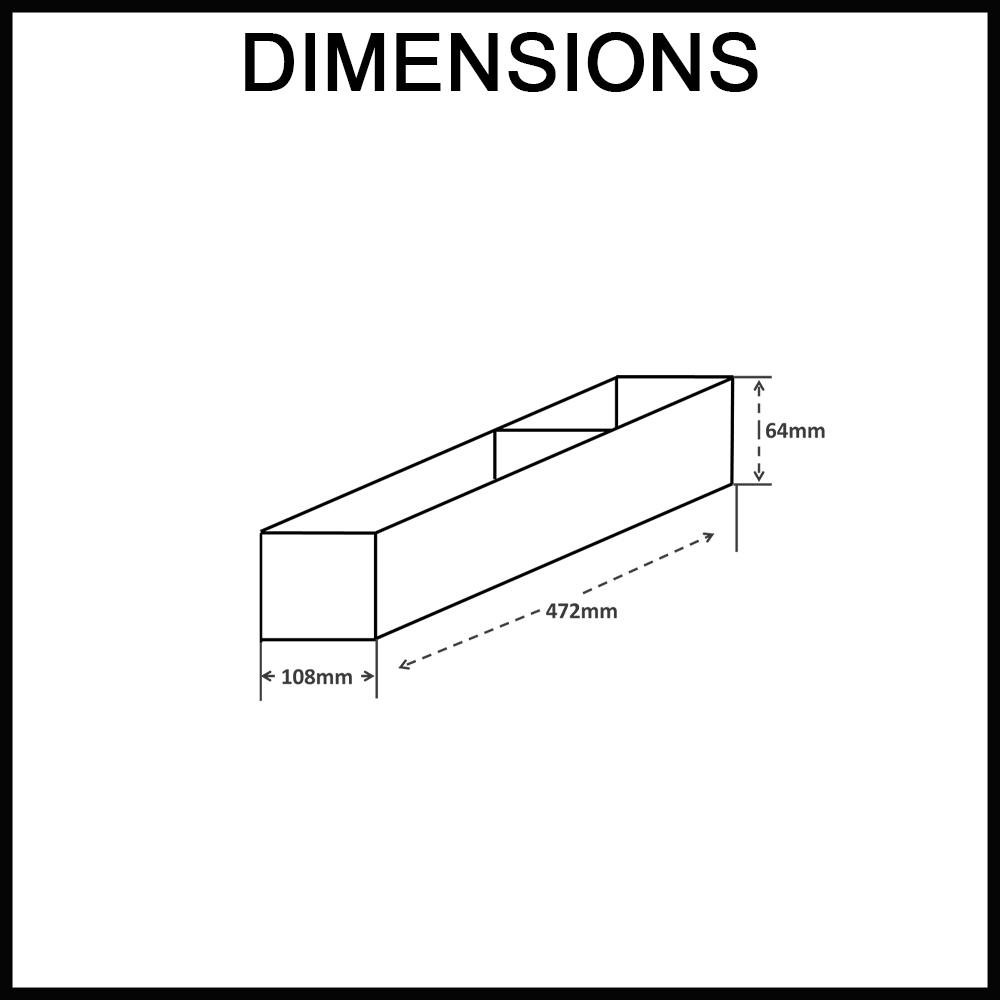 ELITE Stainless Steel Drawer Organiser - Chef Series - Adjustable 2 Tray Dimensions